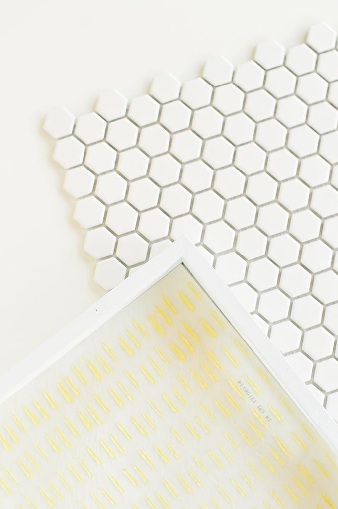 DIY Hexagon Tile Tray by @theproperblog