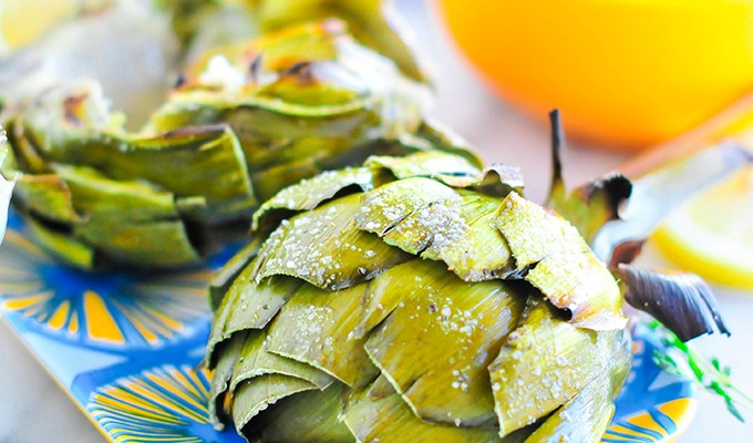 Taste It \\ Grilled Artichokes with Lemon Garlic Butter