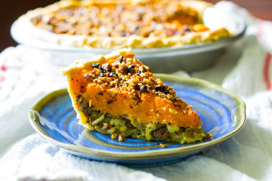 Sweet Potato Shepherd's Pie w/ Curry Spiced Pecans
