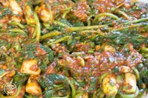 Chonggak (Ponytail Radish) Kimchi