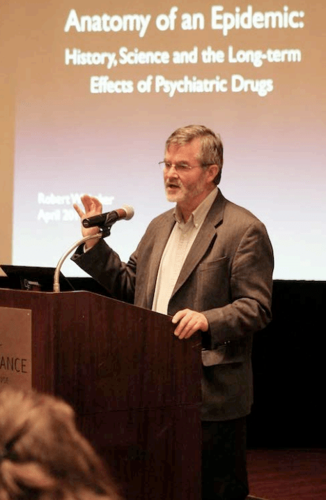 Robert Whitaker, author and investigative journalist, reviewed the evidence that medications for mental health do more harm than good, speaking at the recent Louisiana Marriage and Family Therapists Association convention.