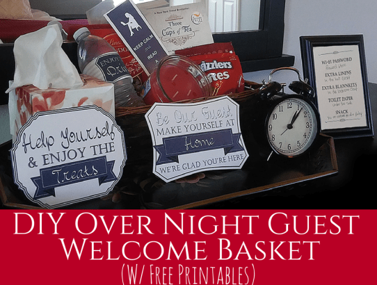 DIY Overnight Guest Welcome Basket