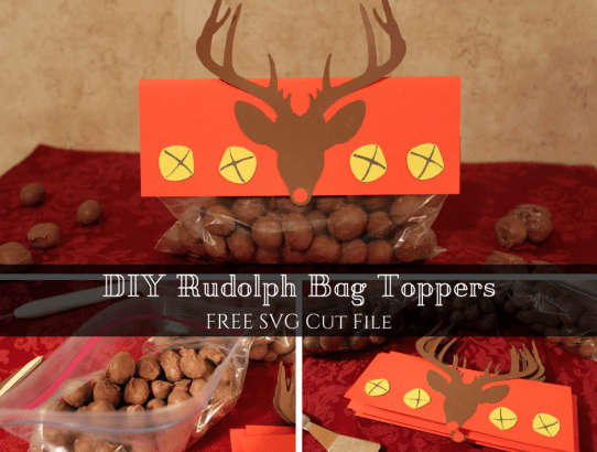 diy rudolph bag toppers