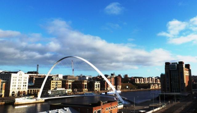 The Baltic Centre and Milennium Bridge - Newcastle Gateshead