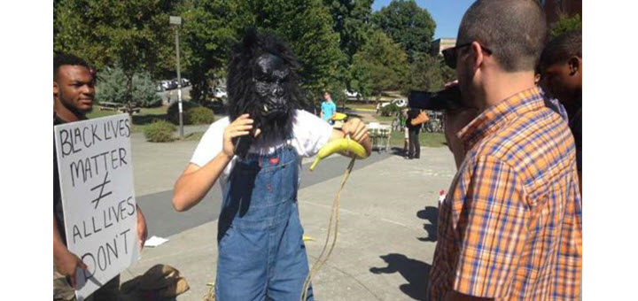 College Student Charged With Intimidation For Wearing Gorilla Mask to #BLM Protest