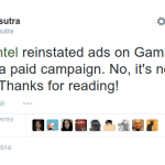 Intel Reinstates Ads on Gamasutra