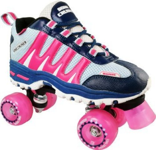 Pacer Pink Sonic Cruiser Outdoor Quad Sneaker Roller Skates