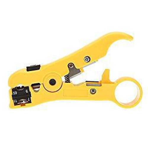 Universal Wire Stripper / Cutter for Flat or Round UTP CAT5 CAT6 Coax Cable Stripping Tool