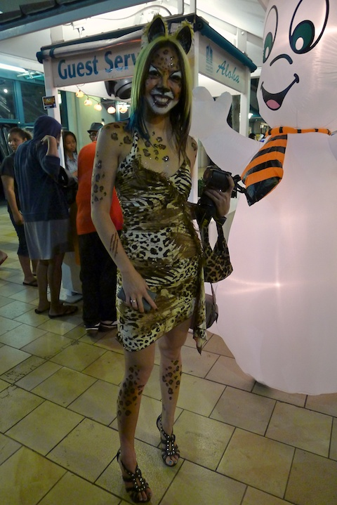 thereafterish, Aloha Tower Halloween Party, Cat Girl
