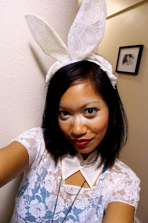 thereafterish, Lady Gaga White Rabbit, White Rabbit Halloween Costume, Halloween Honolulu