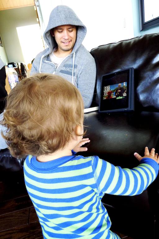 iPad, Baby Watching iPad, Cape Breton, Port Hood