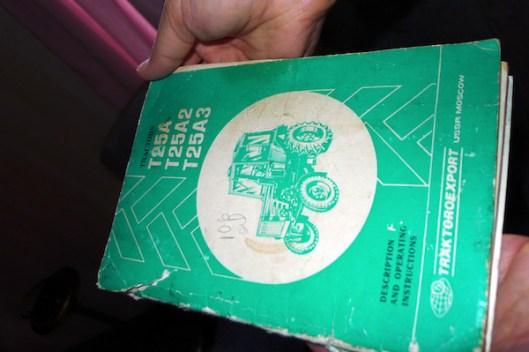 Cape Breton, Judique, Old Farm, Tractor Manual, Typography