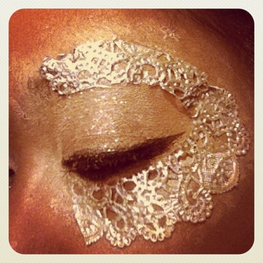 silver halloween eye makeup mask
