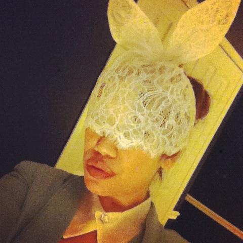 Lady Gaga Lace Bunny Ears, Lace bunny ears