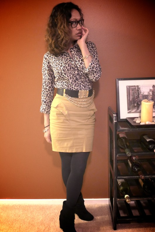 J. Crew Leopard, Tight Pencil Skirt, Suede Cuff Boots, Cuff Booties