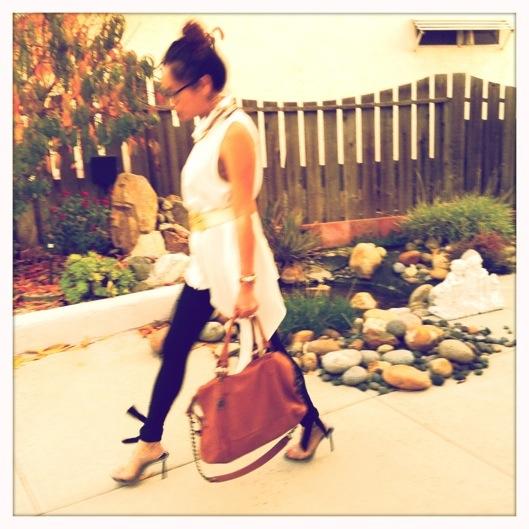 OOTD, Emami Bow leggings, Asymmetrical chiffon tunic, Asian Street Style Fashion