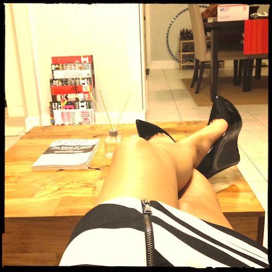 Hawaii Fashion Style, Theyskens Theory wedge heel knock offs, Zebra Print Skirt