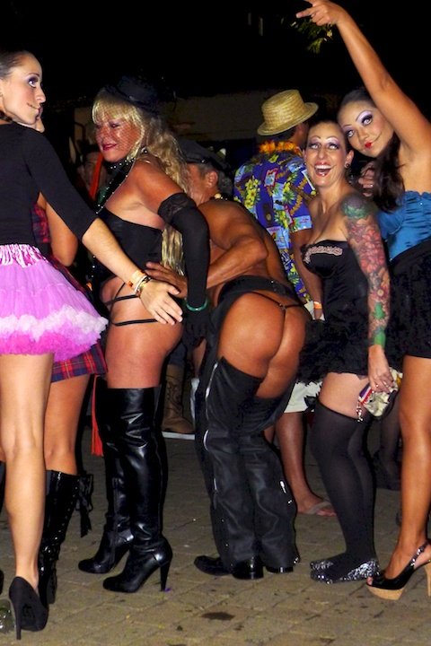 thereafterish, Aloha Tower Halloween Party, assless chaps costume