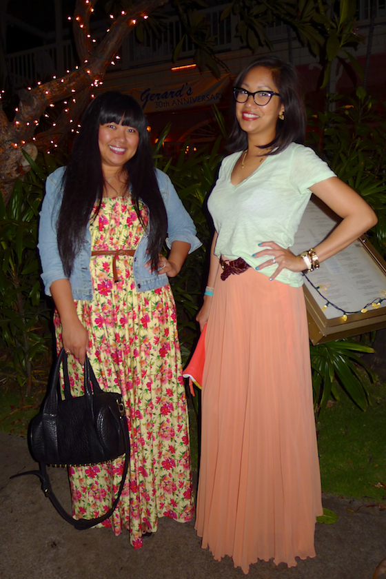 thereafterish, elisharon, ootd, color block, floral maxi skirt, maui travel, mytravelgram