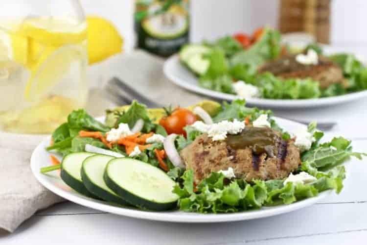 Lemon Kale Goat Cheese Turkey Burgers