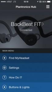 Plantronics BackBeatFit Hub App