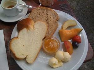 Kleines Frühstück ohne Käse