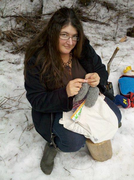Knitting In Public : Crafting in public…