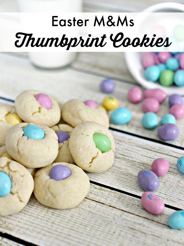 Easter M&Ms Thumbprint Cookies Recipe