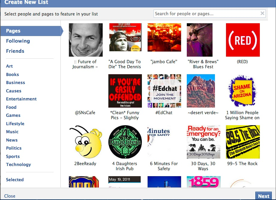 How To: Create a Facebook Interest List
