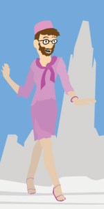 Illustration by Steele Duncan.  Legally Blonde: The Musical, featuring Elle Woods as the winsome, intelligent and blonde — at least in the Hollywood version — lawyer, will start its run Feb. 15 at the Jubilee Auditorium. Watch out, Woods, The Reflector's Kevin Rushworth is giving you a run for your money. Work that power suit, Rushworth.