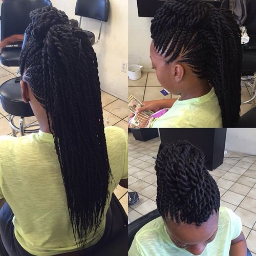braided mohawk with extensions