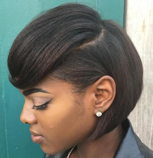 Sleek Black Bob Hairstyle