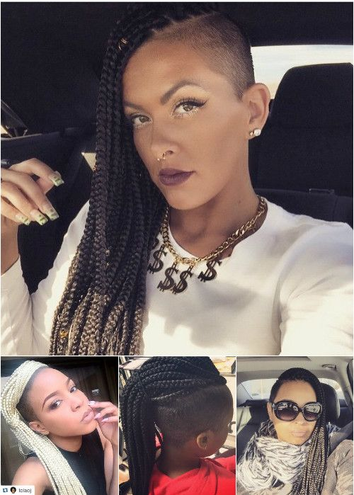 box braids with undercuts
