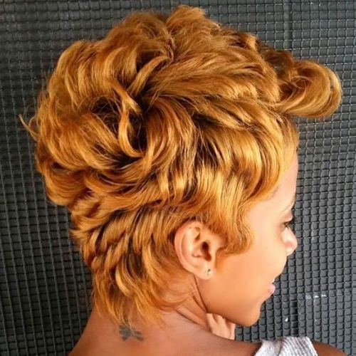 African American Golden Blonde Pixie