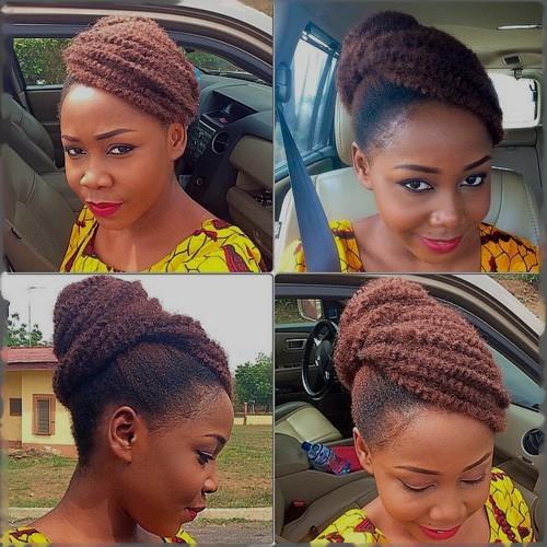 beautiful updo for natural hair
