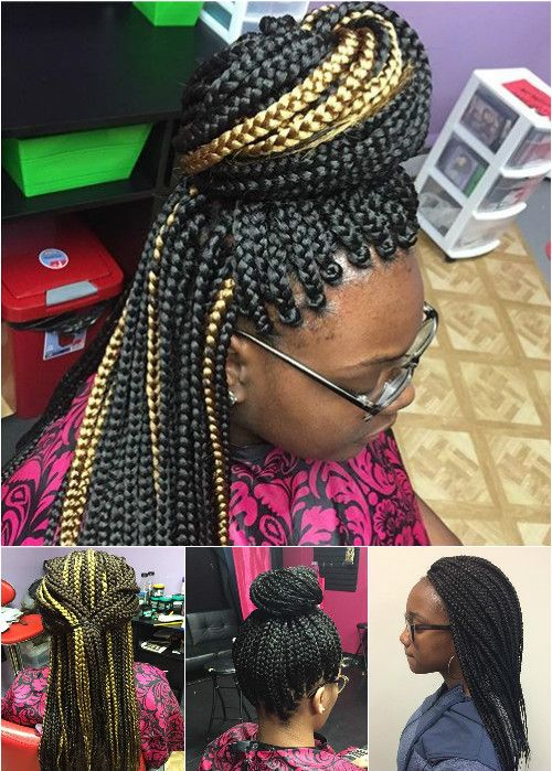 updos and half updos for box braids