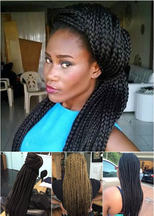 half updos for box braids