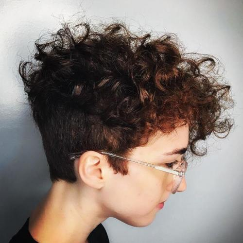 curly pixie with undercut