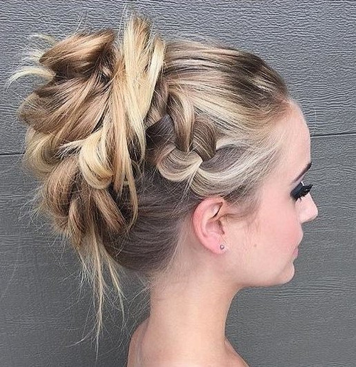messy prom hairstyle for long hair