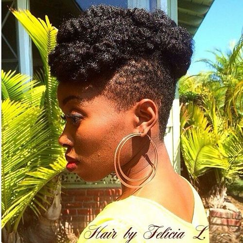 black mohawk for natural hair