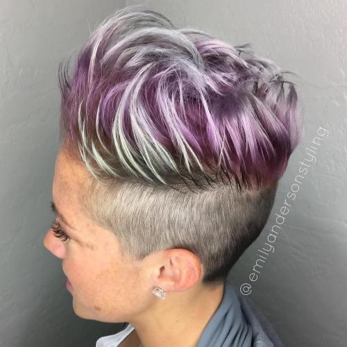 pastel purple pixie undercut
