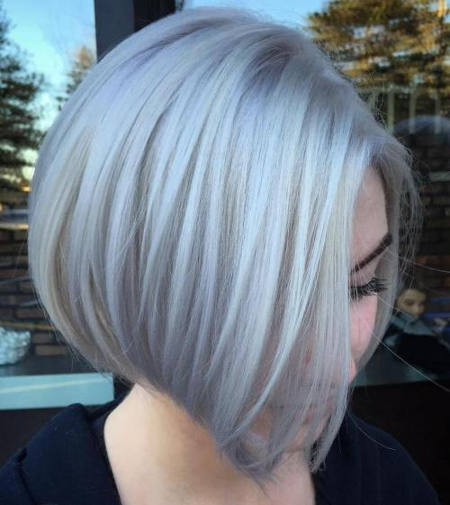 Silver Side-Parted Bob