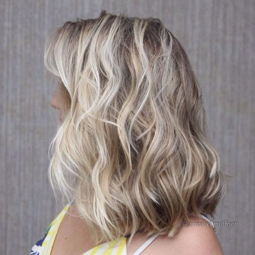 Wavy Brown Blonde Hairstyle