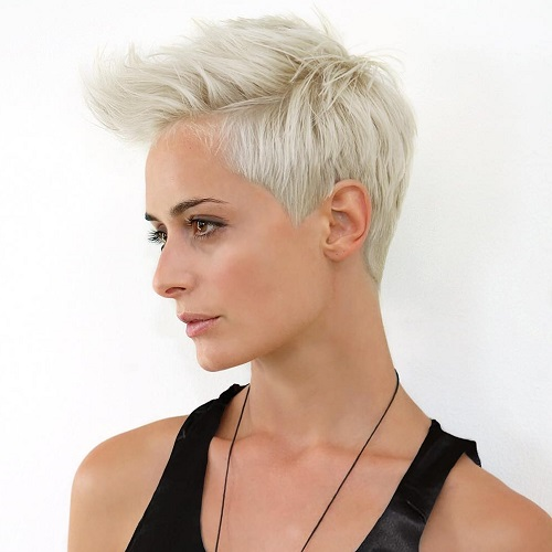 Blonde Fauxhawk Hairstyle For Women