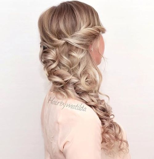 Curly Side Hairstyle For Long Hair
