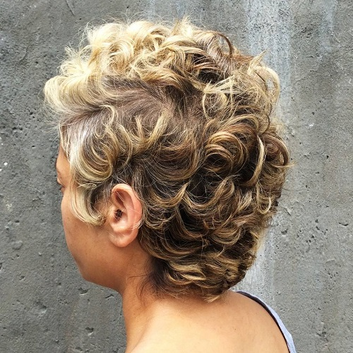 African American short curly hairstyle