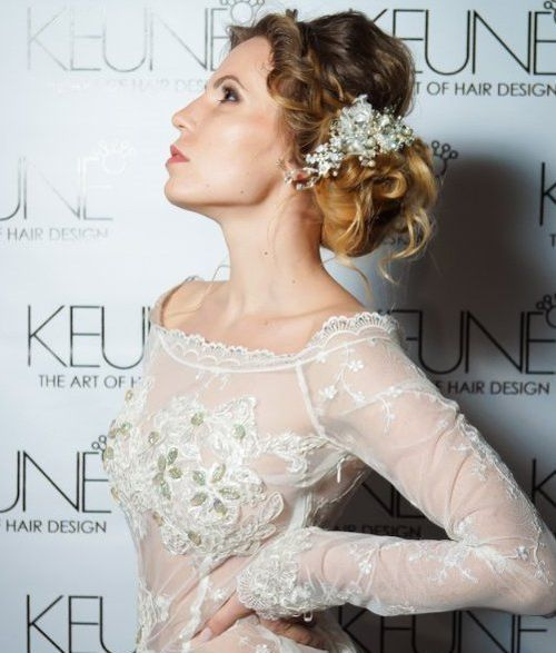 Side Bun and Braid Prom Updo Hairstyle