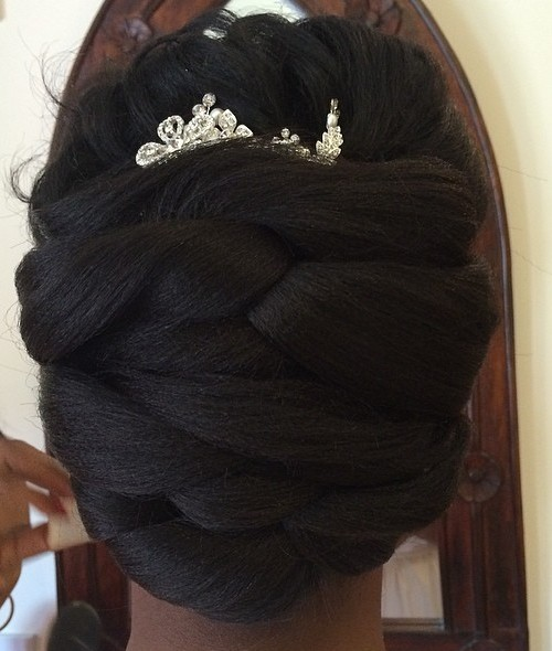 African American Bridal Updo