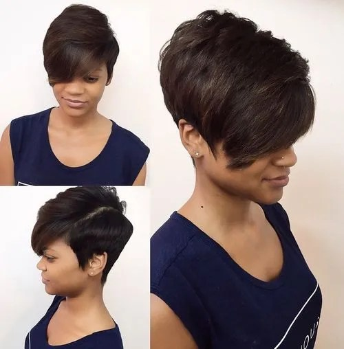 extra short black bob haircut