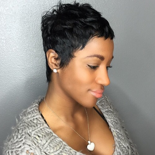extra short hairstyle for black women